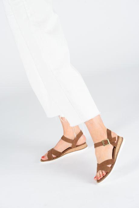 Sandales et nu-pieds Gioseppo 48937 Marron vue bas / vue portée sac