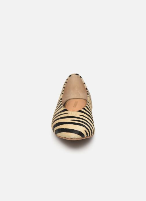 Ballerines Gioseppo 48952 Beige vue portées chaussures