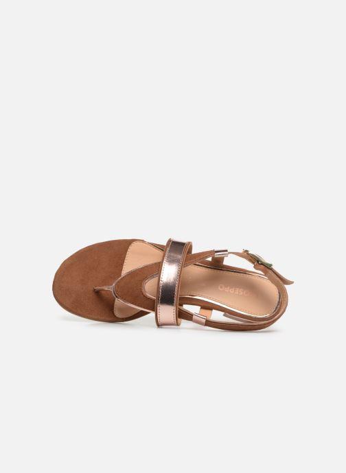 Sandales et nu-pieds Gioseppo 47244 Marron vue gauche