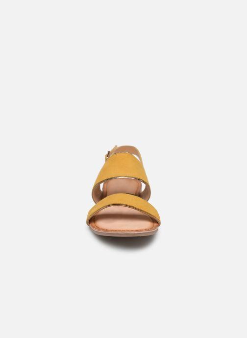 Sandales et nu-pieds Gioseppo 48794 Jaune vue portées chaussures