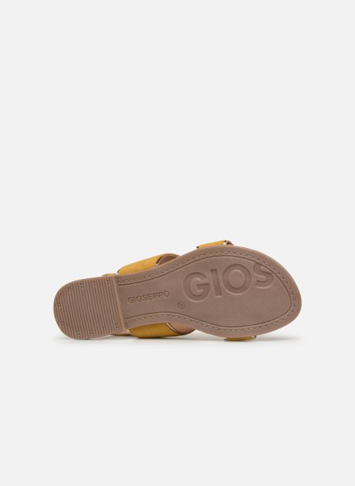 Sandals Gioseppo 48794 Yellow view from above