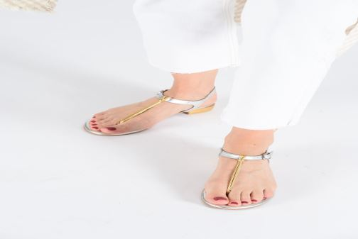Sandals Gioseppo 47283 Silver view from underneath / model view