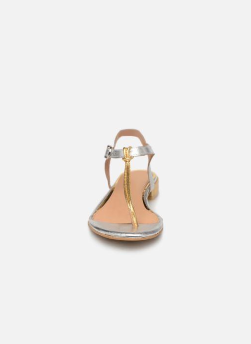Sandalen Gioseppo 47283 silber schuhe getragen