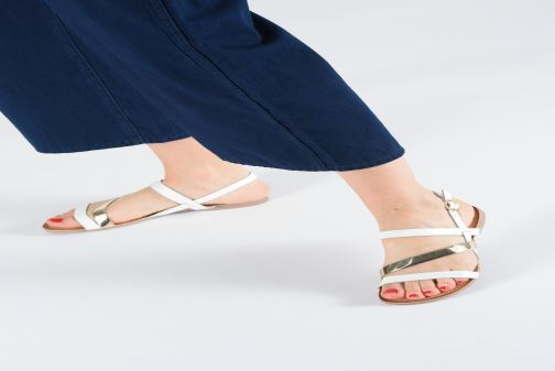 Sandals Gioseppo 47798 White view from underneath / model view