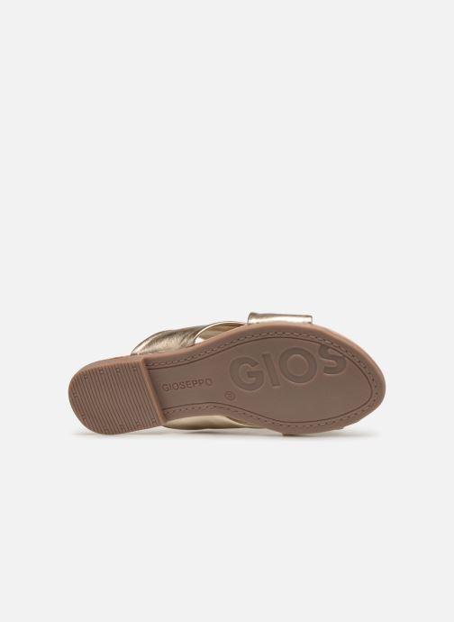 Clogs & Pantoletten Gioseppo 48803 gold/bronze ansicht von oben