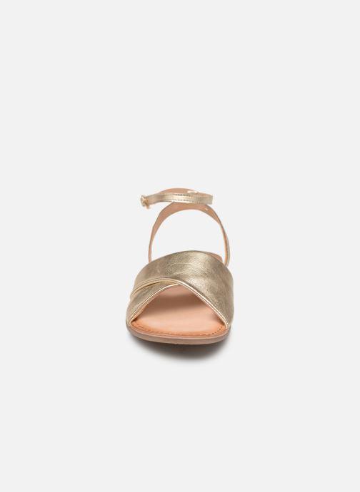 Sandales et nu-pieds Gioseppo 49083 Or et bronze vue portées chaussures