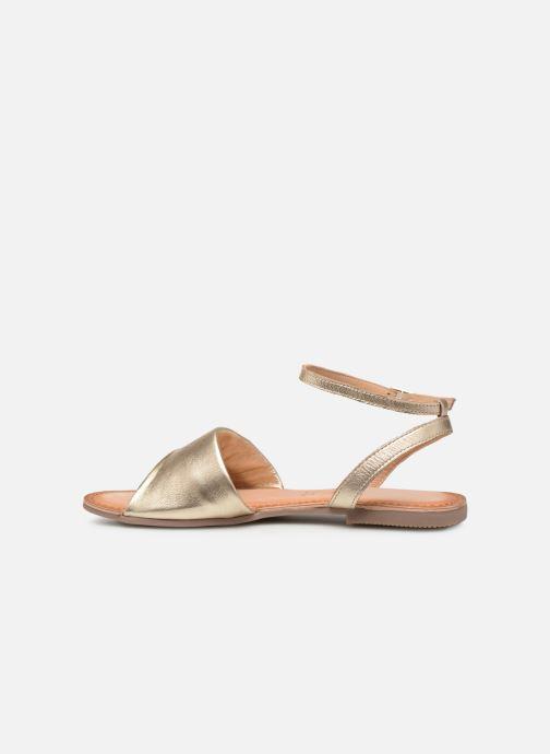 Sandales et nu-pieds Gioseppo 49083 Or et bronze vue face