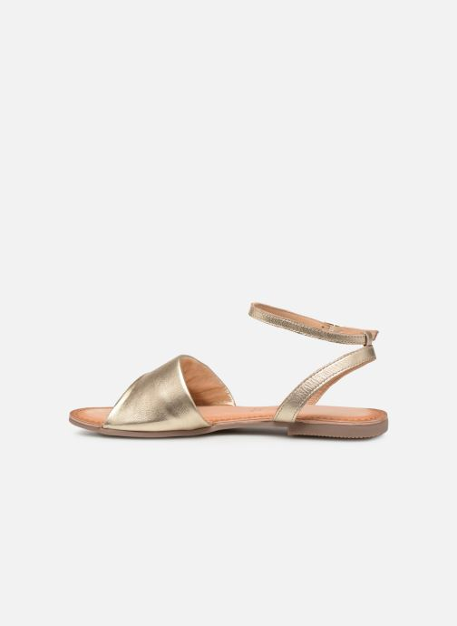 Sandals Gioseppo 49083 Bronze and Gold front view