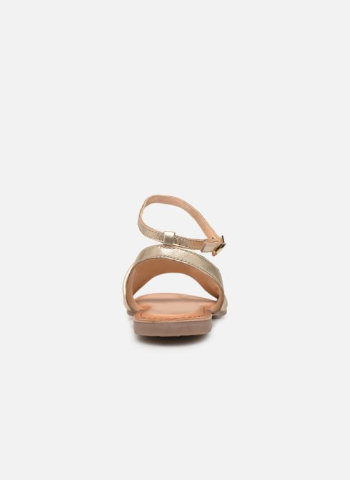 Sandals Gioseppo 49083 Bronze and Gold view from the right