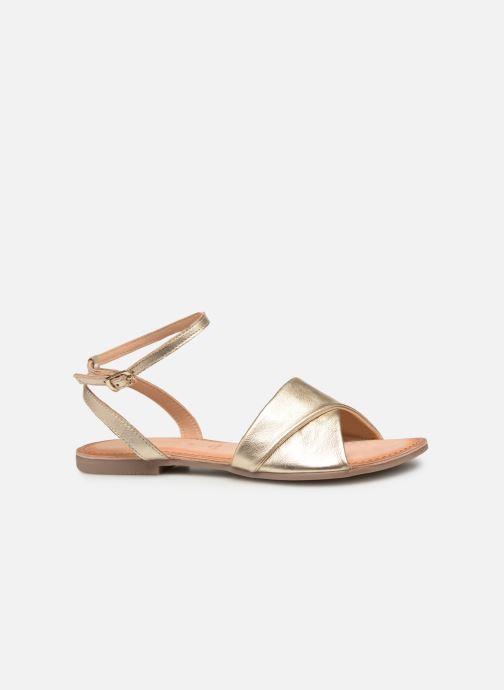 Sandales et nu-pieds Gioseppo 49083 Or et bronze vue derrière