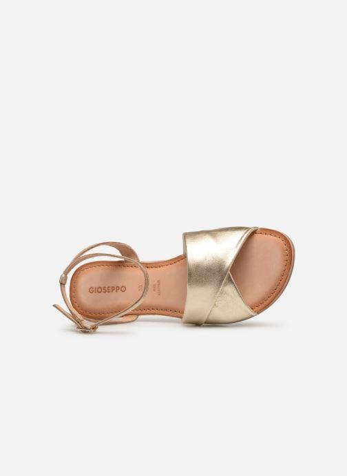 Sandales et nu-pieds Gioseppo 49083 Or et bronze vue gauche