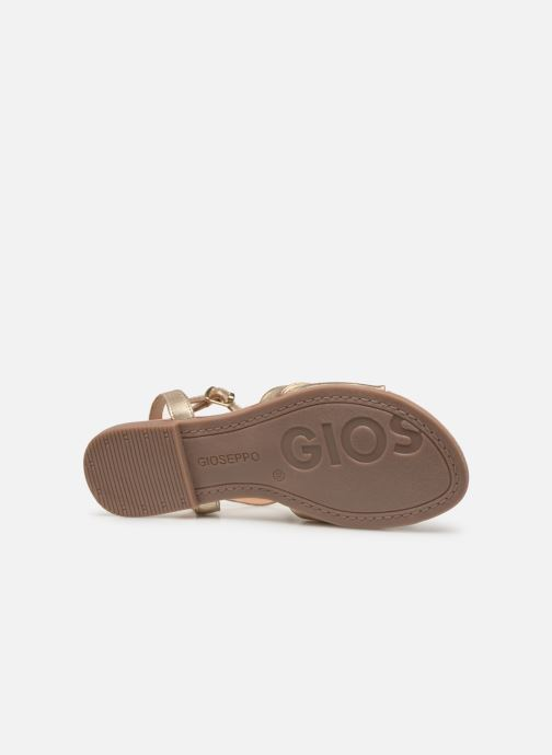 Sandals Gioseppo 49083 Bronze and Gold view from above