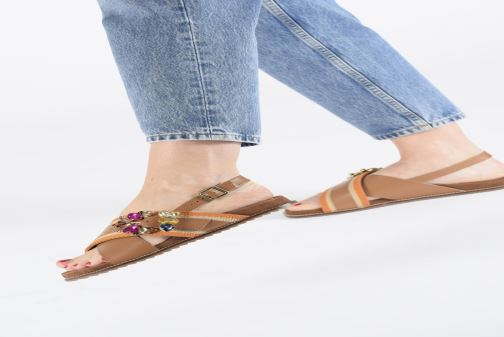 Sandals Gioseppo 49042 Brown view from underneath / model view