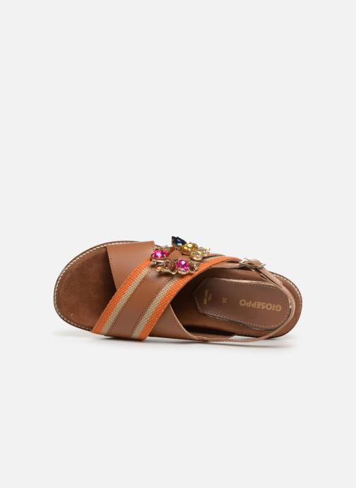 Sandals Gioseppo 49042 Brown view from the left