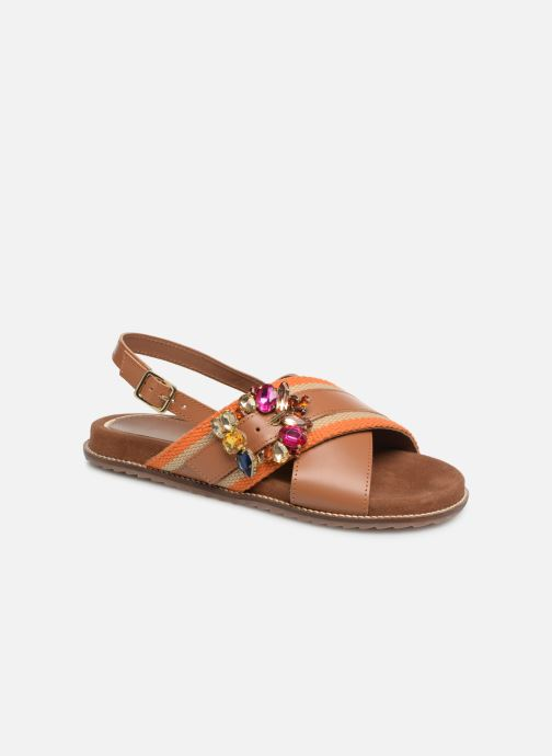Sandals Gioseppo 49042 Brown detailed view/ Pair view