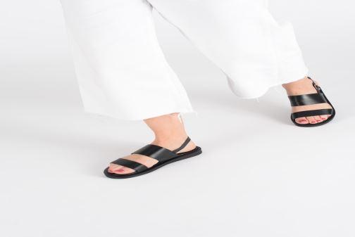 Sandales et nu-pieds Gioseppo 49036 Noir vue bas / vue portée sac