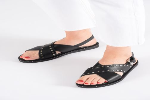 Sandals Gioseppo 49034 Black view from underneath / model view