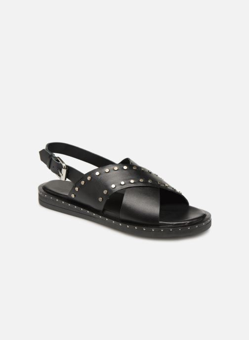 Sandals Gioseppo 49034 Black detailed view/ Pair view