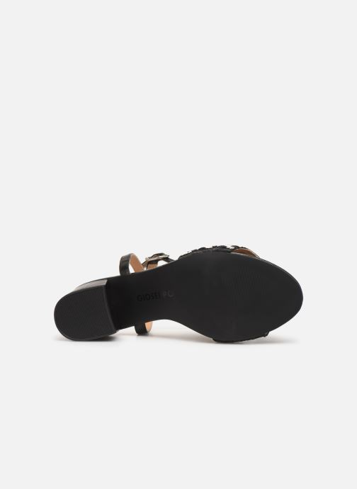 Sandals Gioseppo 48834 Black view from above
