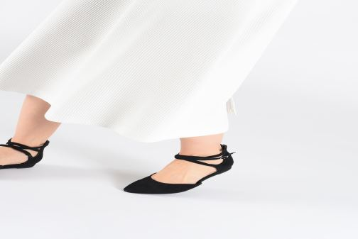 Ballet pumps Tamaris Annemary Black view from underneath / model view