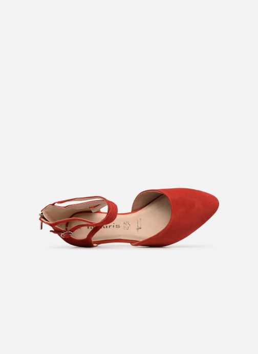 Ballerines Tamaris Annemary Rouge vue gauche