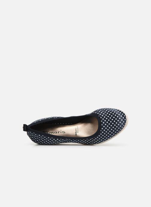Zapatos de tacón Tamaris Hannah Azul vista lateral izquierda