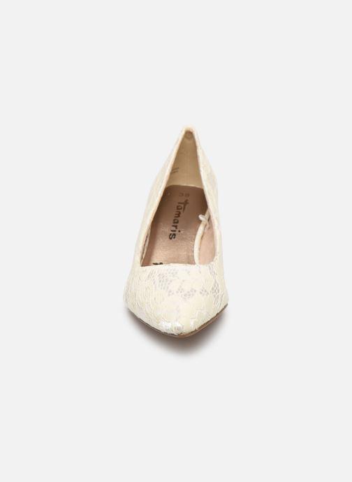 Escarpins Tamaris Hanne Blanc vue portées chaussures