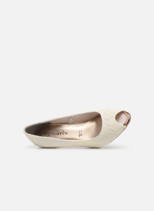 Zapatos de tacón Tamaris Magda Blanco vista lateral izquierda