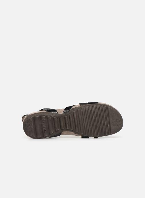 Sandales et nu-pieds Tamaris Margarete Noir vue haut