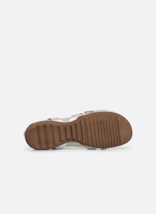 Sandales et nu-pieds Tamaris Margarete Argent vue haut