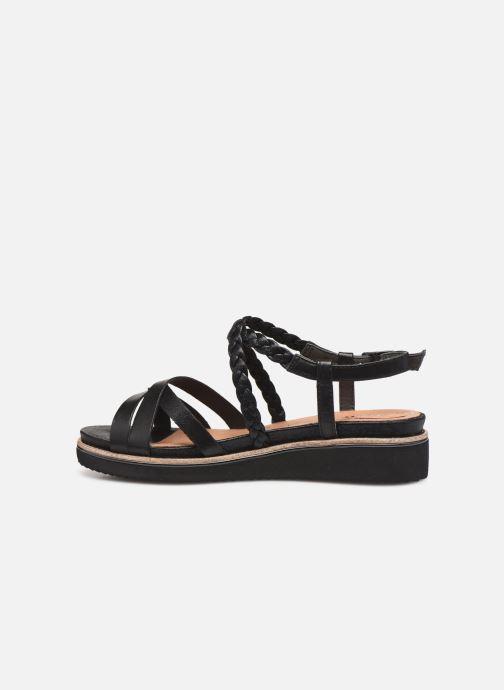 Sandales et nu-pieds Tamaris Maya Noir vue face