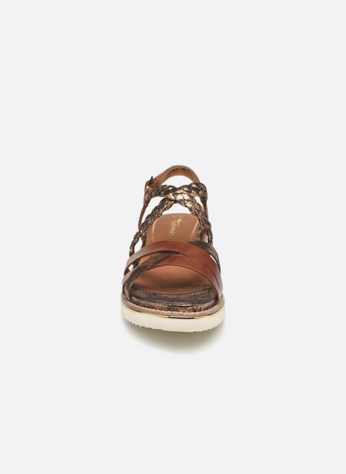 Sandales et nu-pieds Tamaris Maya Marron vue portées chaussures