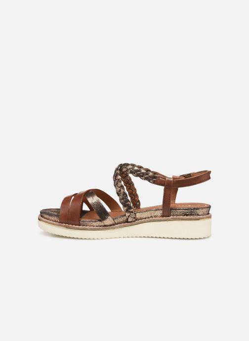 Sandales et nu-pieds Tamaris Maya Marron vue face