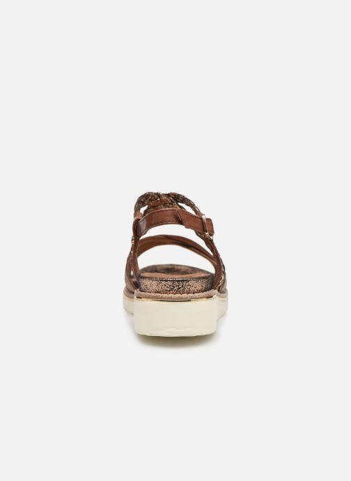 Sandales et nu-pieds Tamaris Maya Marron vue droite
