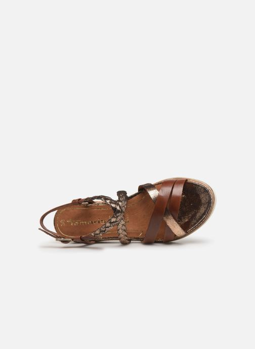 Sandales et nu-pieds Tamaris Maya Marron vue gauche