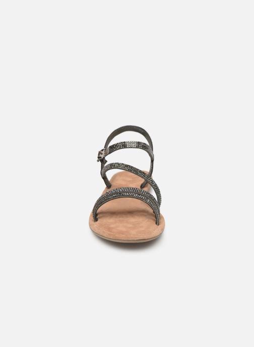 Sandales et nu-pieds Tamaris Monika Gris vue portées chaussures