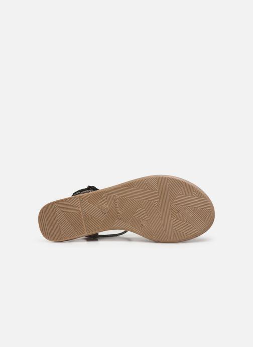 Sandales et nu-pieds Tamaris Monika Gris vue haut