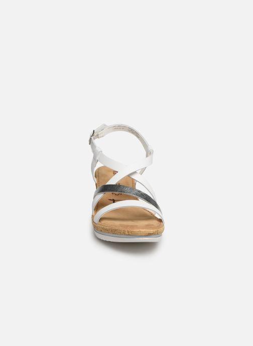 Sandales et nu-pieds Tamaris Nadia Blanc vue portées chaussures