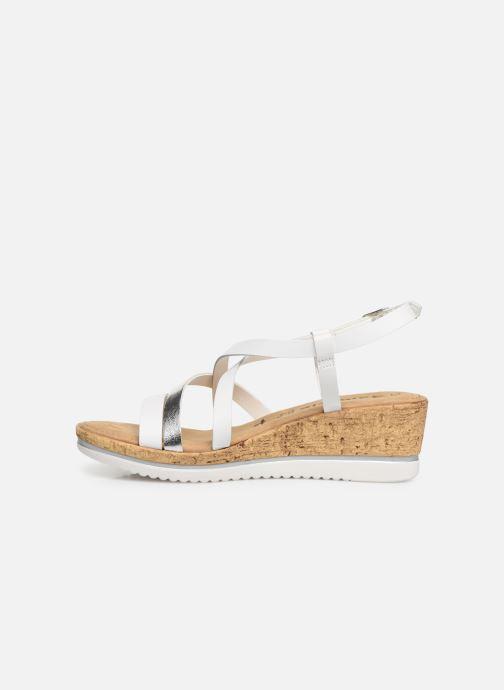 Sandales et nu-pieds Tamaris Nadia Blanc vue face