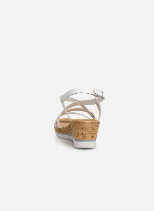 Sandales et nu-pieds Tamaris Nadia Blanc vue droite