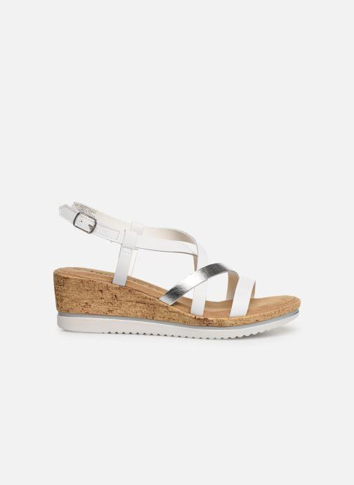 Sandales et nu-pieds Tamaris Nadia Blanc vue derrière