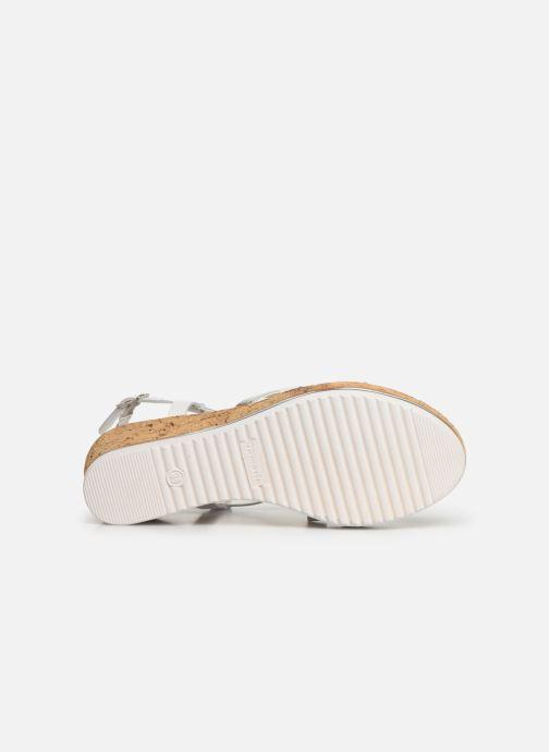 Sandales et nu-pieds Tamaris Nadia Blanc vue haut