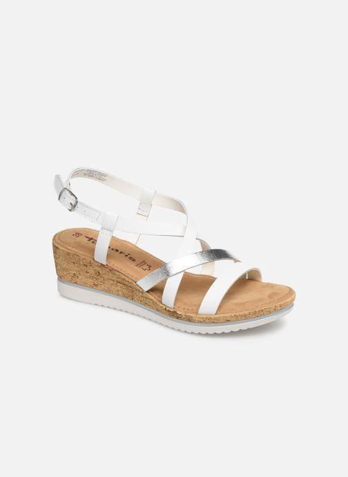 Sandales et nu-pieds Tamaris Nadia Blanc vue détail/paire