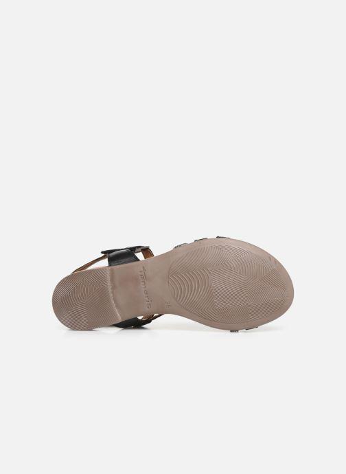 Sandales et nu-pieds Tamaris Naomi Noir vue haut
