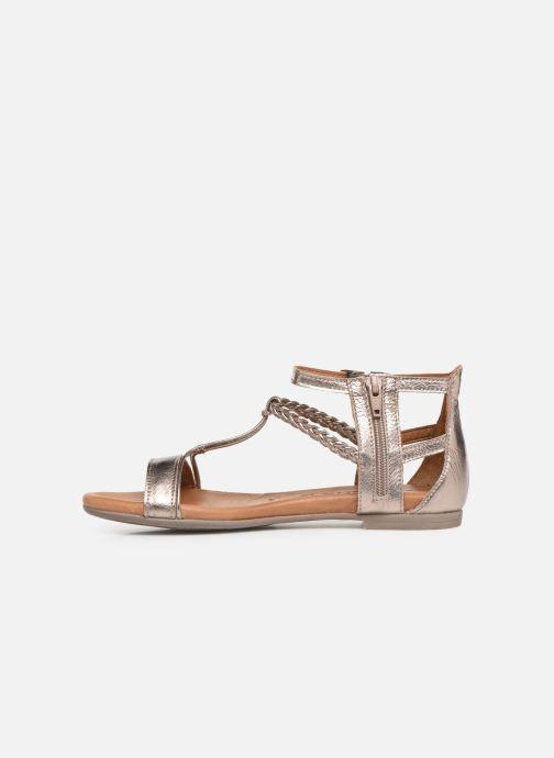 Sandales et nu-pieds Tamaris Roxane Or et bronze vue face