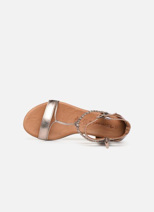 Sandales et nu-pieds Tamaris Roxane Or et bronze vue gauche