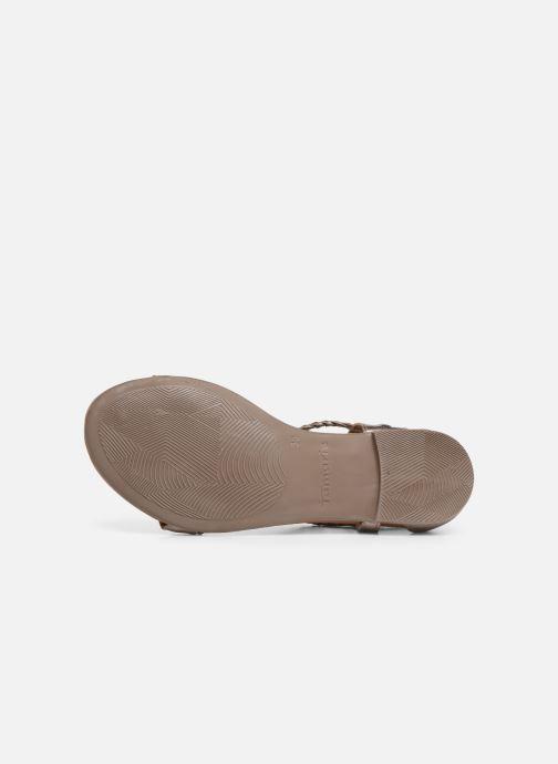 Sandales et nu-pieds Tamaris Roxane Or et bronze vue haut