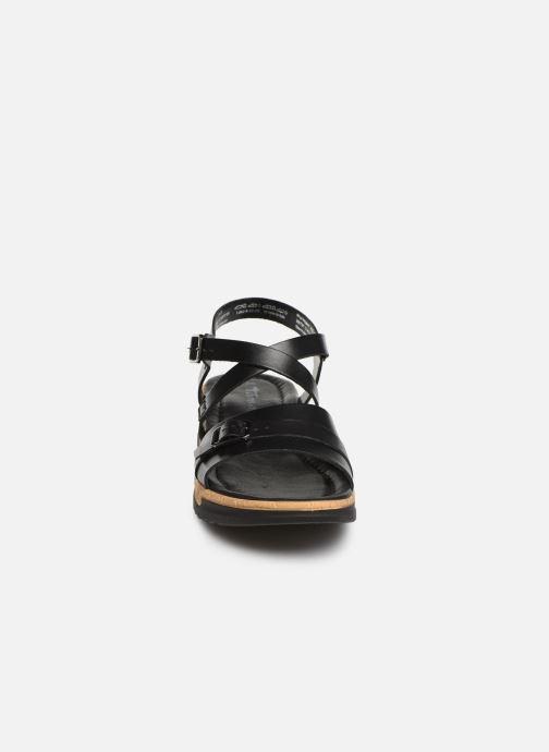 Sandalen Tamaris Regina schwarz schuhe getragen