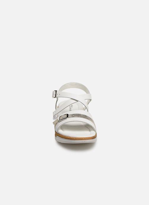 Sandales et nu-pieds Tamaris Regina Blanc vue portées chaussures