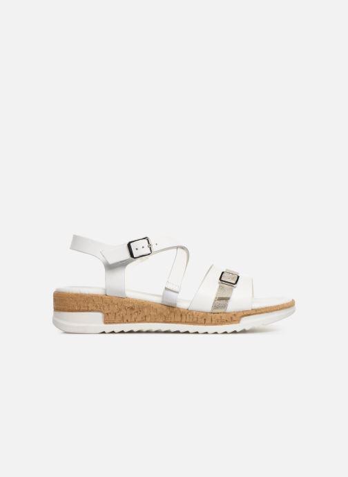 Sandales et nu-pieds Tamaris Regina Blanc vue derrière